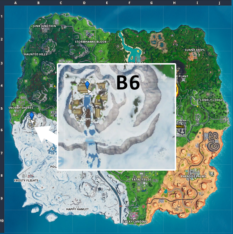 Fortnite Fortbyte 98 Map Wikinger