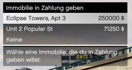 GTA Online Immobilie in Zahlung