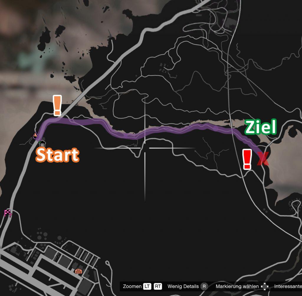 GTA Online Raton Canyon Streckenverlauf