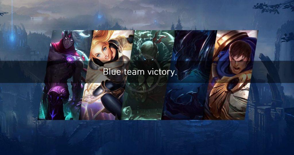 LoL SaltyTeemo Blue Team Victory
