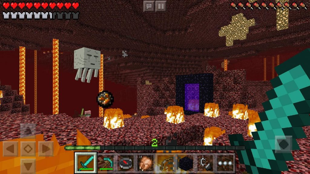 Minecraft Mobile Gameplay Screenshot Unterwelt Dungeon