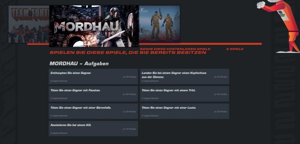 Steam Summer Sale Grand Prix Aufgaben Mordhau
