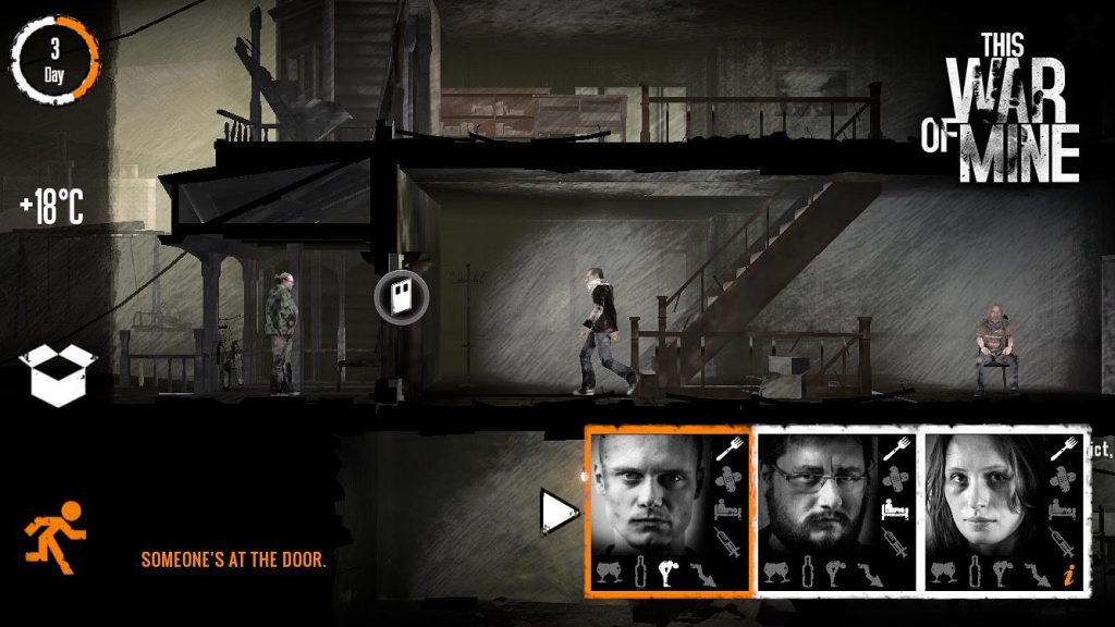 This War of MIne Mobile Gameplay Screenshot