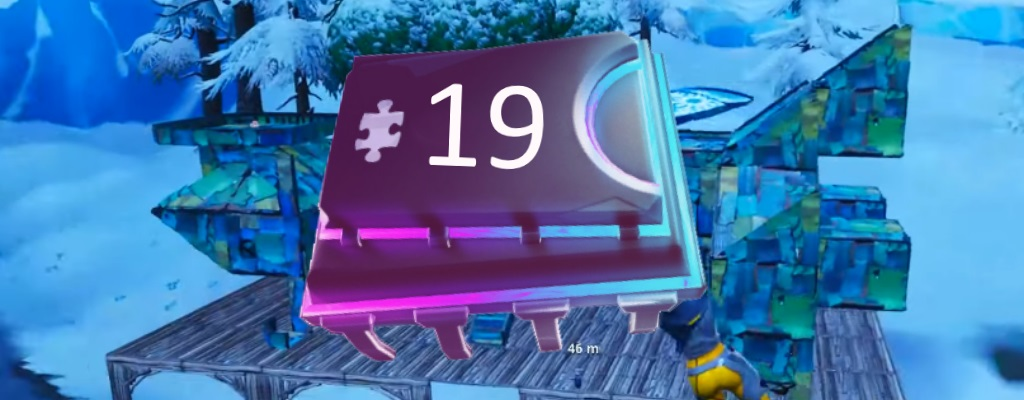 Fortnite: Fortbyte #19 zu finden mit Vega-Outfit in raumschiffartigem Gebäude