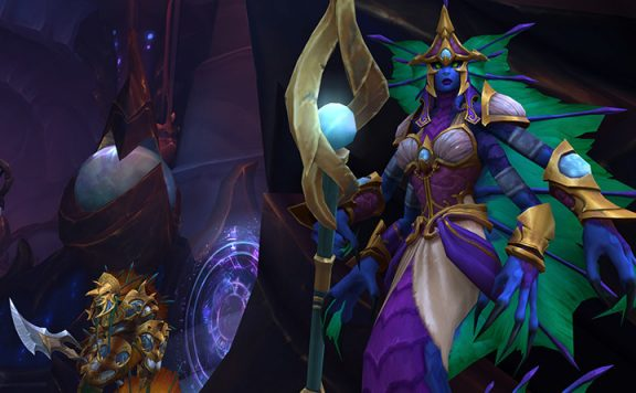 WoW Azshara Eternal Palace Naga Boss title 1140×445
