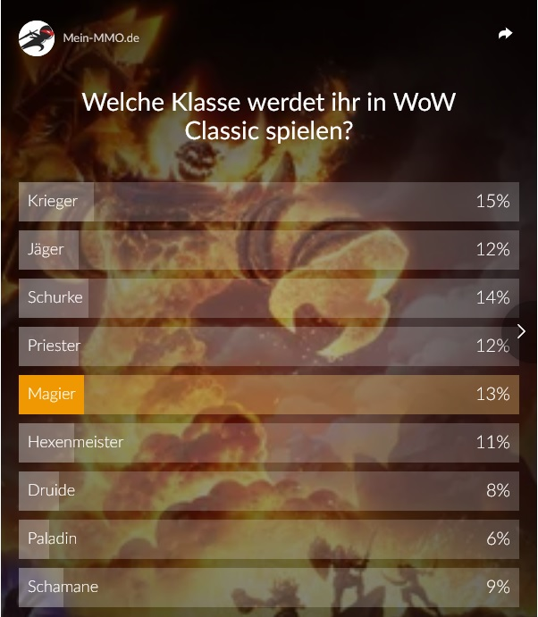 Welche Klasse in WoW Classic?