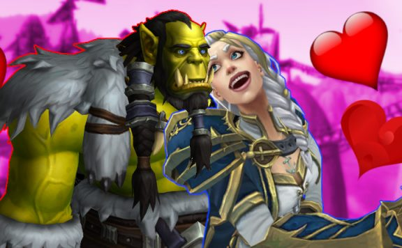 WoW Thraina Thrall Jaina in Love why am I doing this again title 1140×445