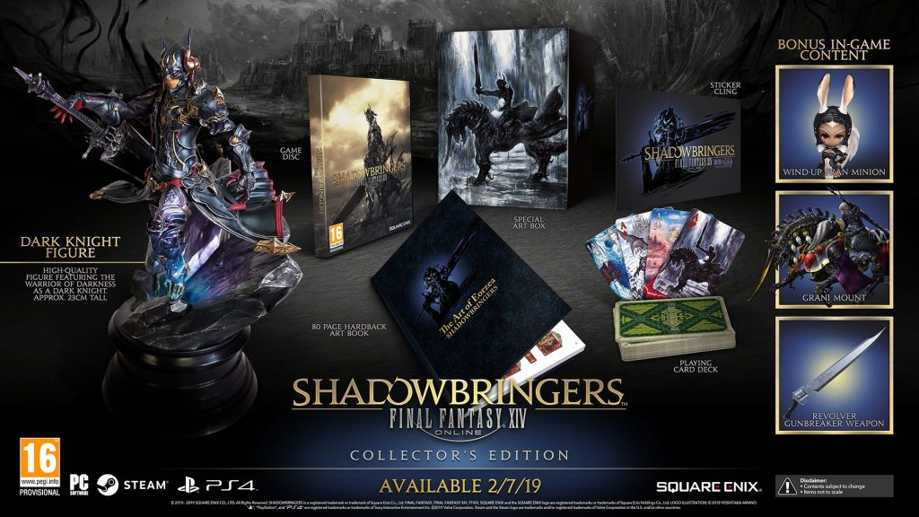 final fantasy xiv shadowbringers collectors edition inhalt