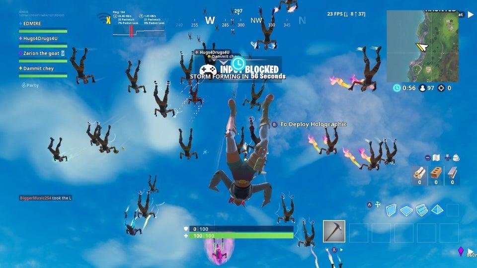 Fieser Bug in Fortnite ließ Spieler auf der Switch hilflos vom Himmel fallen