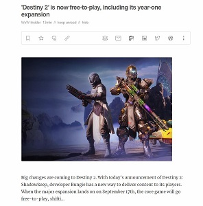 Destiny 2 Free2play Engaget