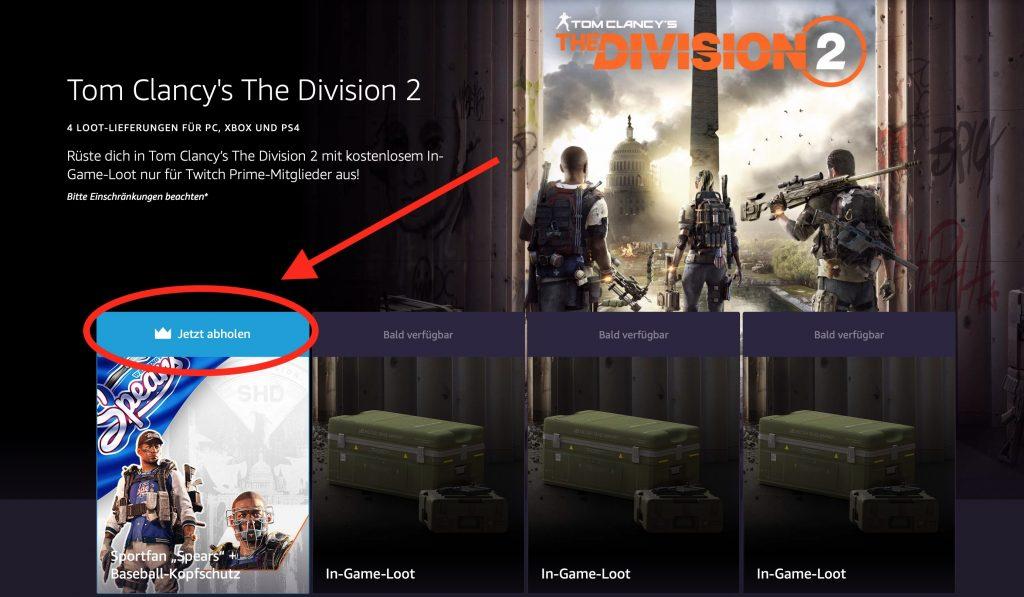 Division 2: So kommt Ihr an neuen Loot mit Twitch Prime
