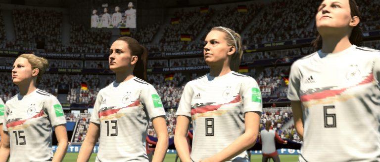 FIFA 19 Anstoß 0:0 GER : ESP, 1. HZ