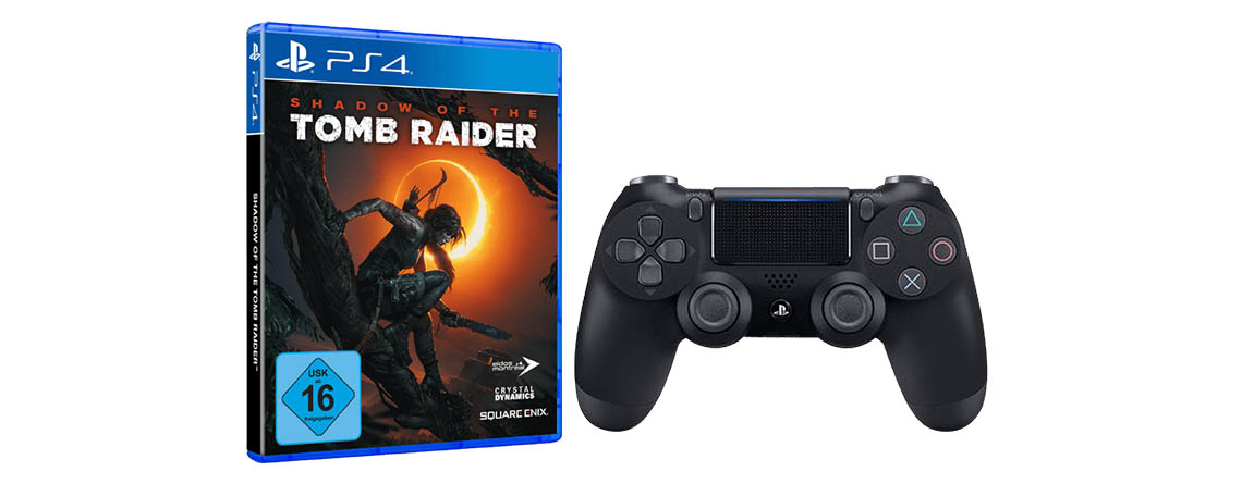MediaMarkt: PS4 Controller mit Shadow of Tomb Raider für 52 Euro