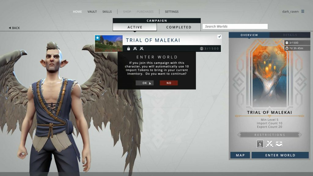 Crowfall The Fortunes of War Import Export Tokens