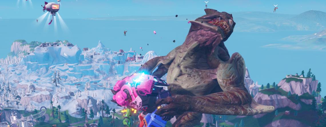 In Fortnite haben sich Monster und Roboter episch geprügelt – Seht hier den Kampf