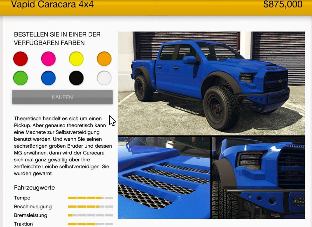GTA Online Caracara