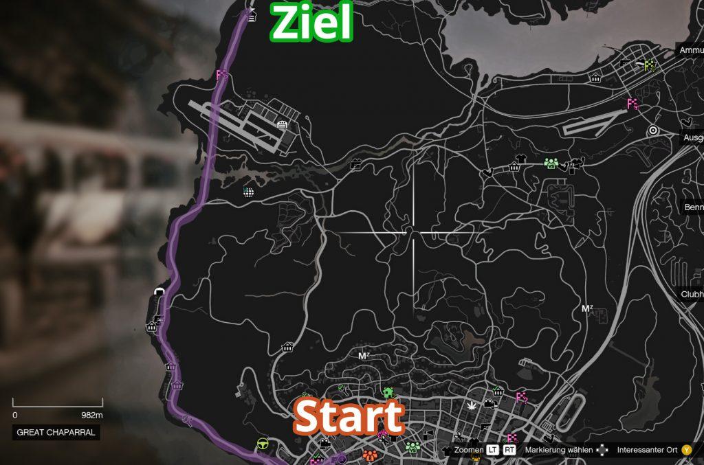 GTA Online Great Ocean Highway Strecke