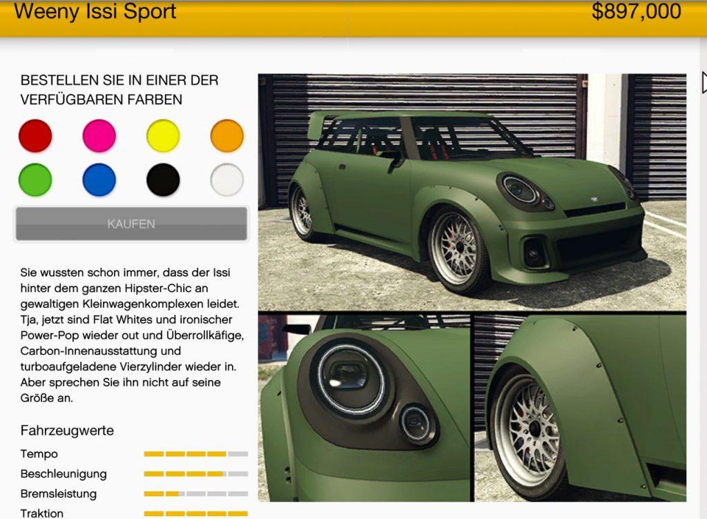 GTA Online Issy Sport