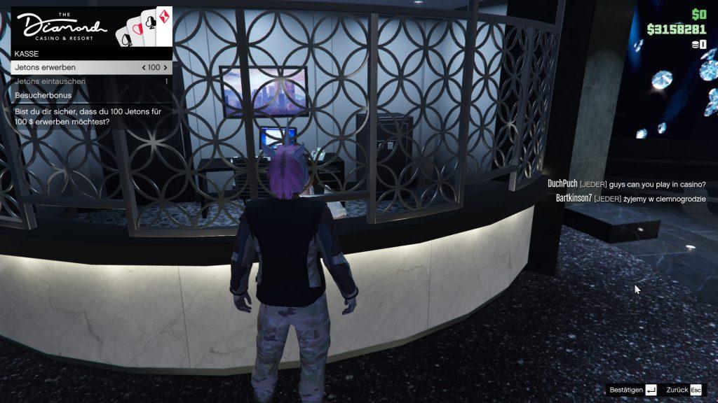 GTA Online Kassierer Jetons Tauschen