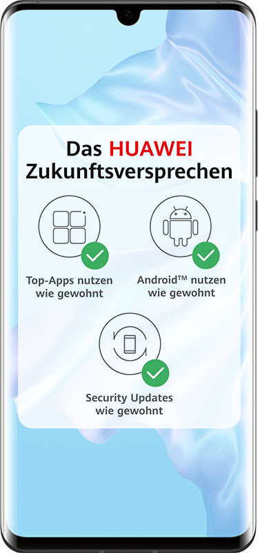 Huawei P30 Pro Android-Unterstützung