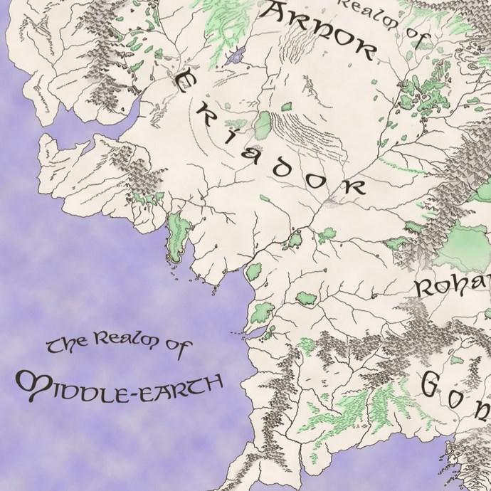 Herr der Ringe MMO Map