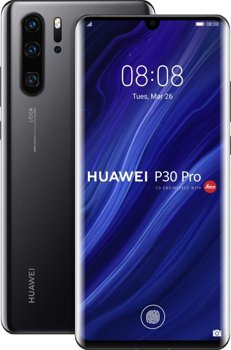 Das Huawei P30 Pro in Schwarz