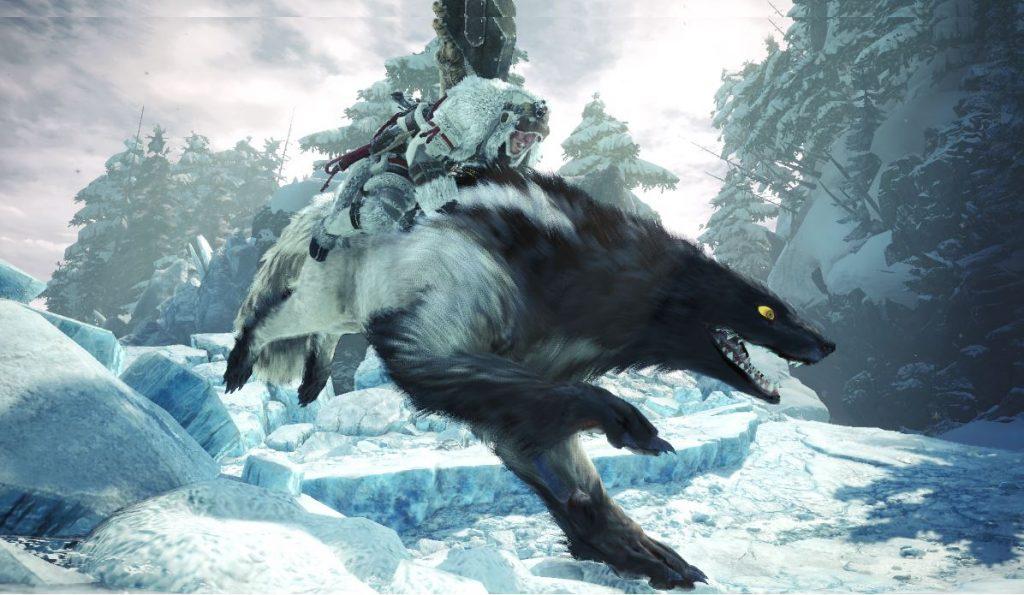 Stinktiere reiten in Monster Hunter World: Iceborne