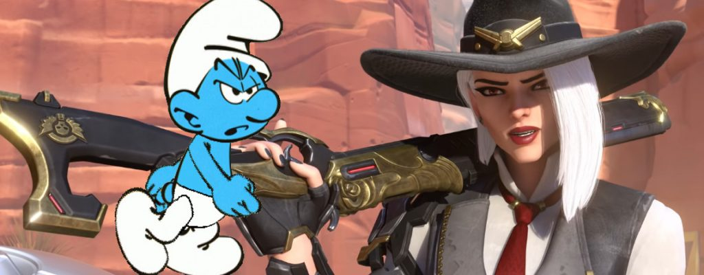 Overwatch Smurf Ashe title 1140x445
