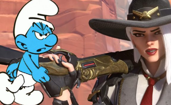 Overwatch Smurf Ashe title 1140×445