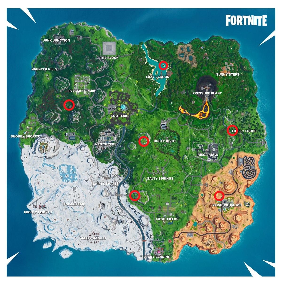 Fortnite: Springe von einem riesigem Strandschirm - Map zeigt Fundorte