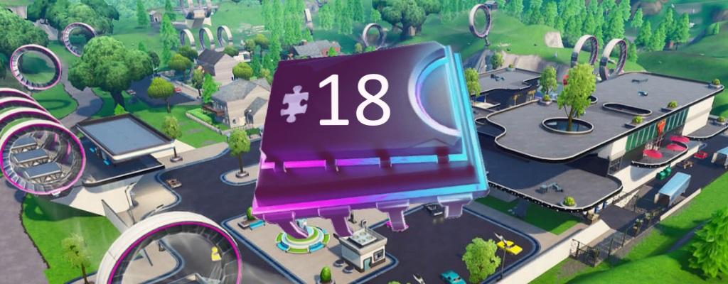 Fortnite: Fortbyte #18 zwischen Mega Mall und Dusty Divot – Fundort