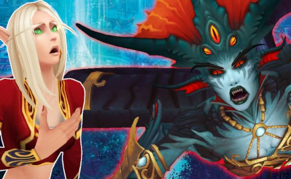 WoW Blood Elf Shocked Azshara title 1140×445