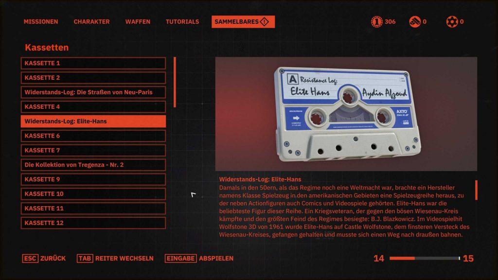 Wolfenstein Youngblood Elite Hans Kassette
