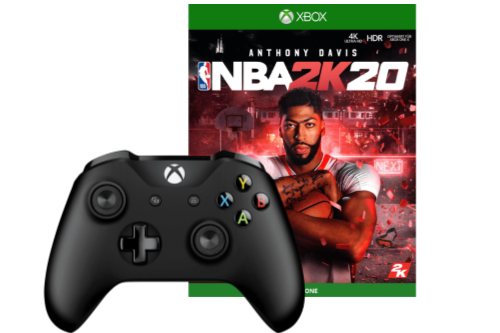 Xbox-Controller-Bundle mit NBA 2K20