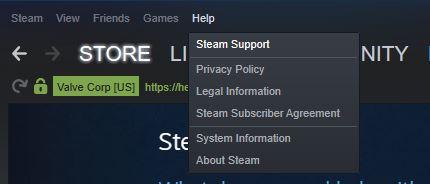 Steam Support Programm