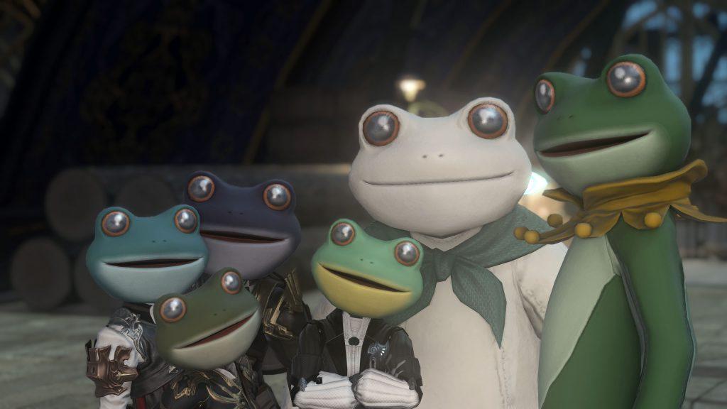 final fantasy xiv fröhliche frosch familie