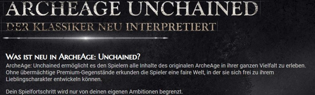 Archeage-Unchained-Botschaft