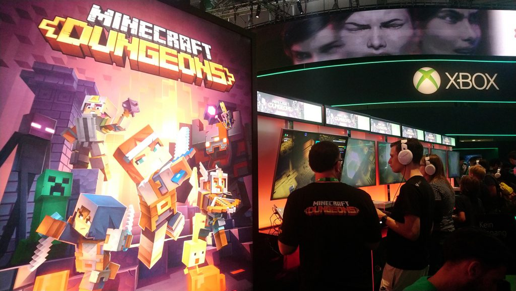 gamescom minecraft stand