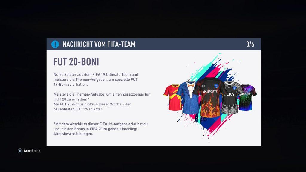 FIFA 19 boni fut 20
