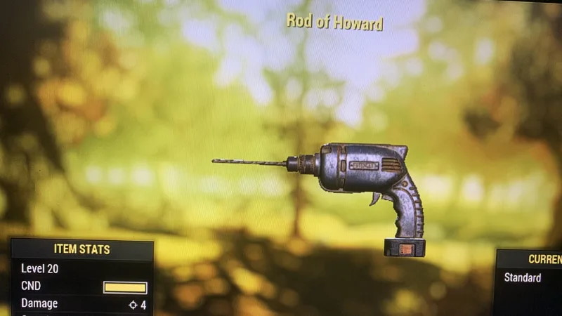 Fallout 76 Drill of Howard