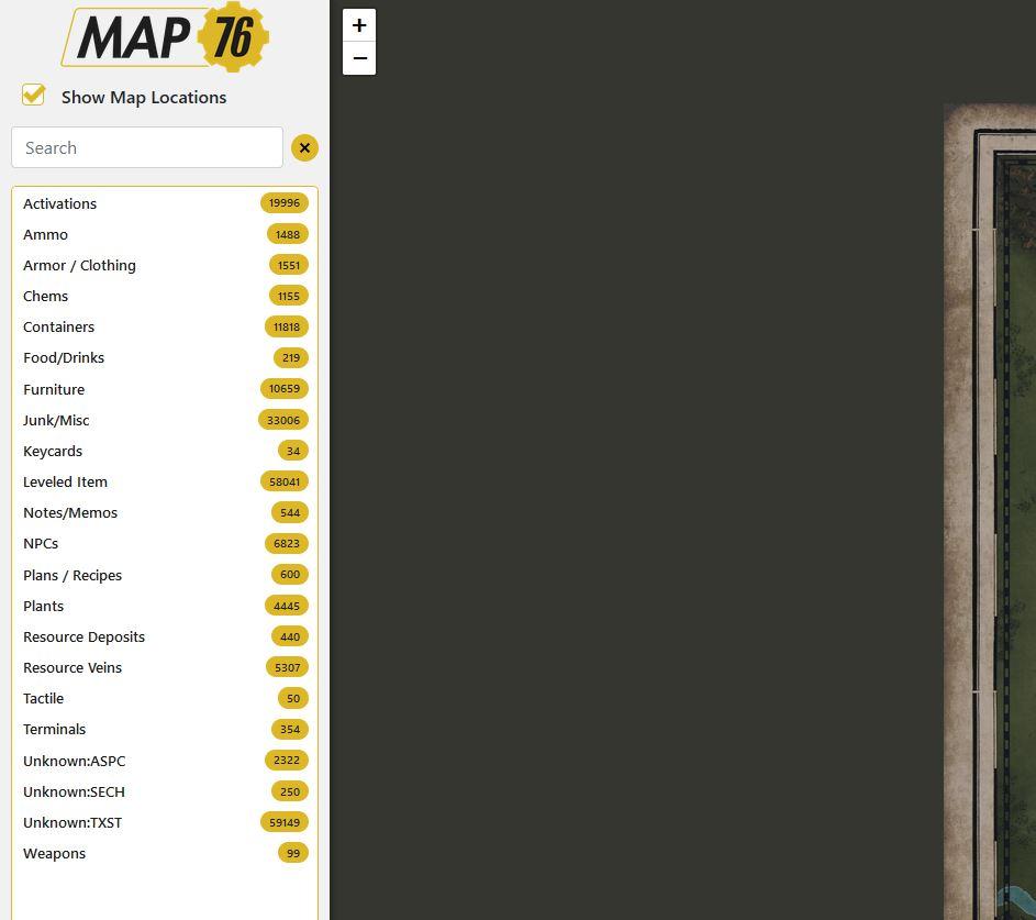 Fallout 76 Map76 Karte Ausschnitt Filter