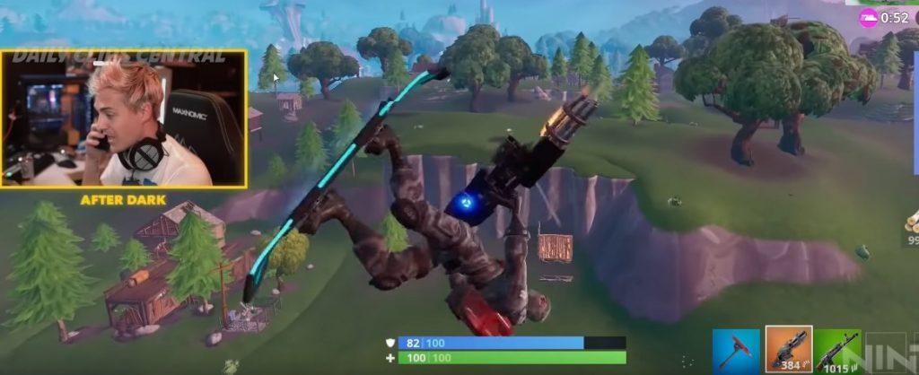 Fortnite Cheater Ninja Board Minigun