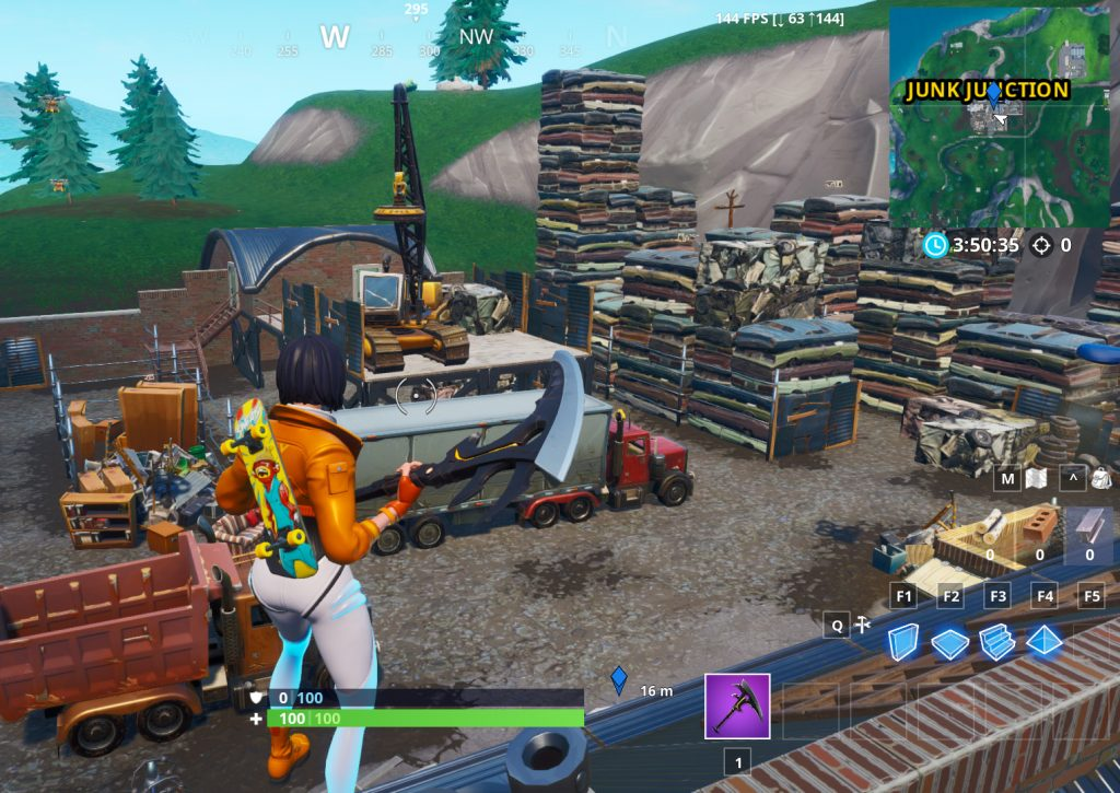 Fortnite Junk Junction Kran Schrottplatz