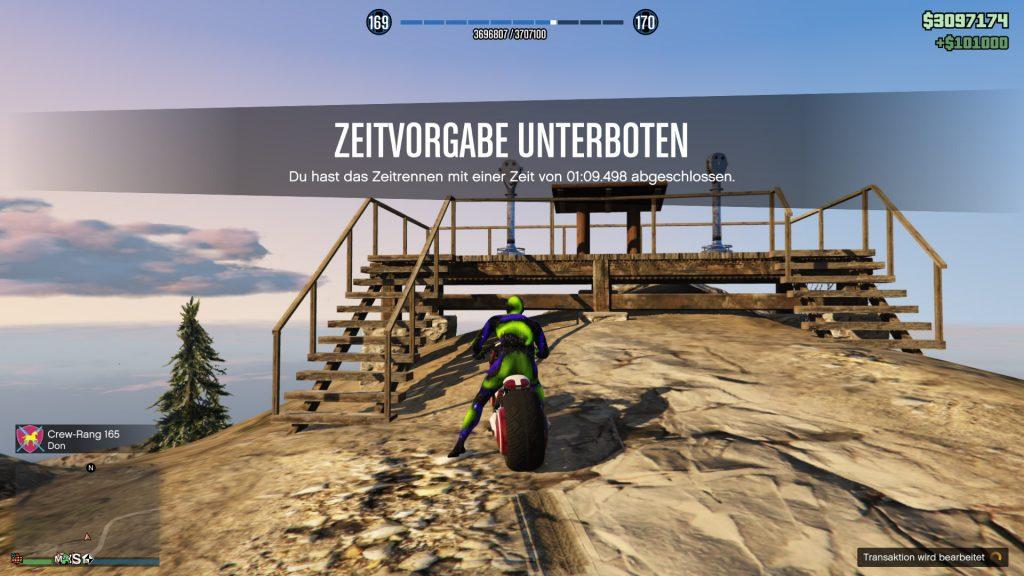 GTA Online Chiliad Bergauf Ziel