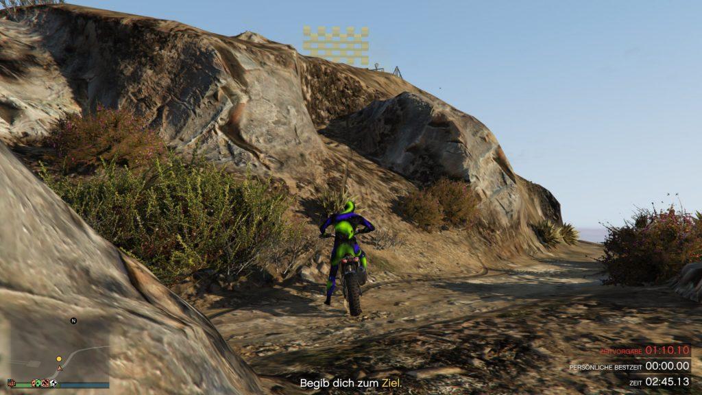 GTA Online Chiliad Bergauf Ziel Sprung