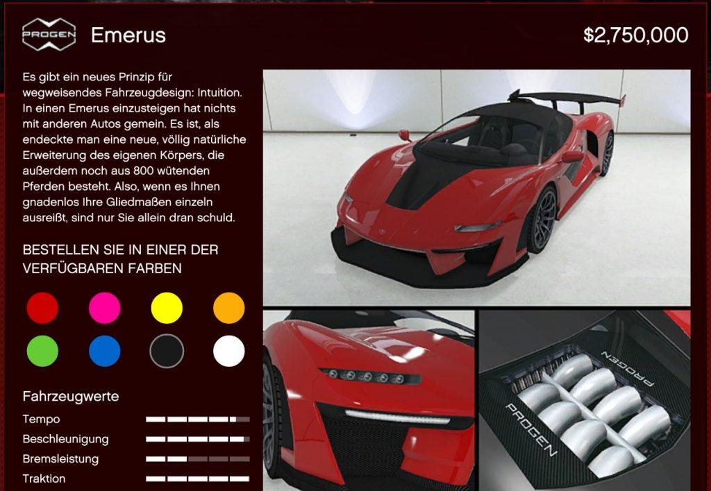GTA Online Progen Emerus