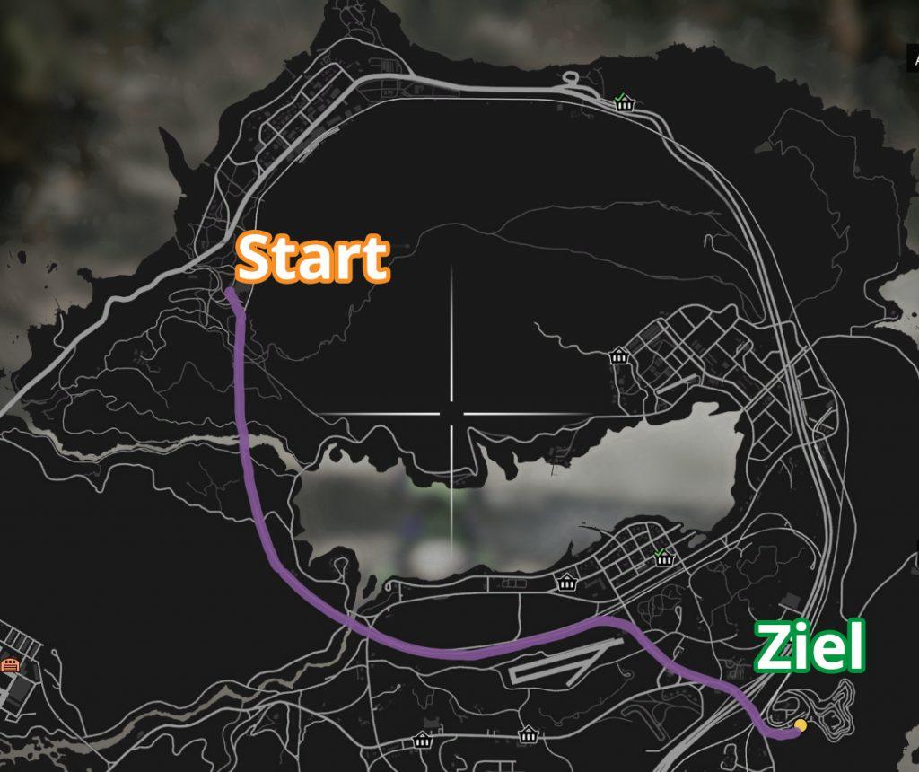 GTA Online Sägewerk Strecke