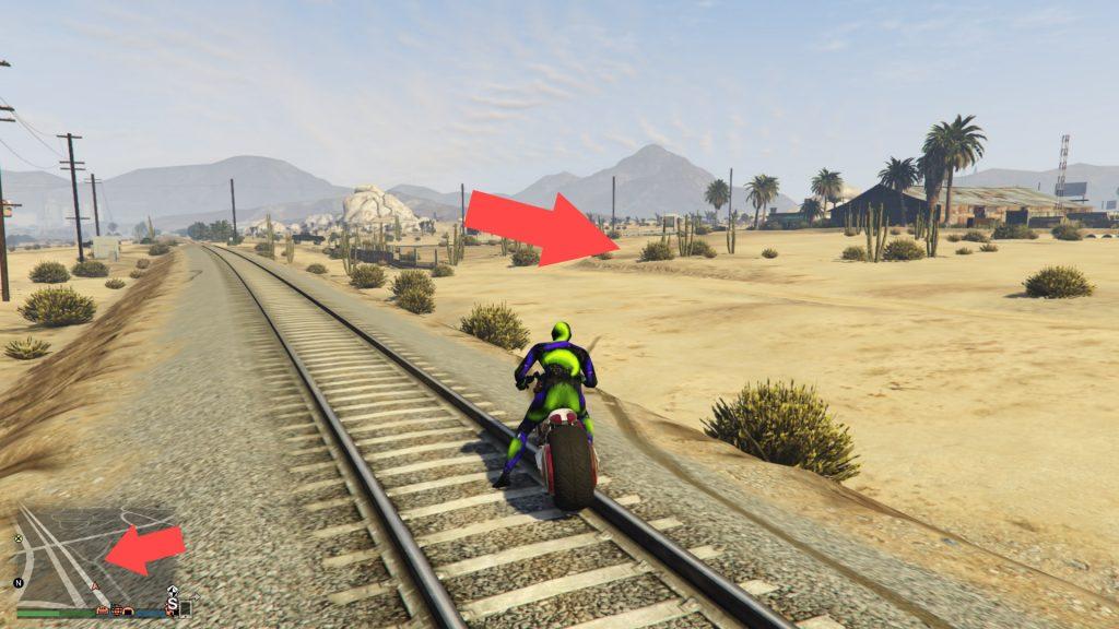 GTA Online Sägewerk Strecke 2