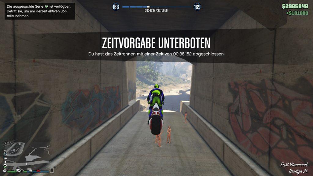 GTA Online Zeitrennen Kanal Gewonnen