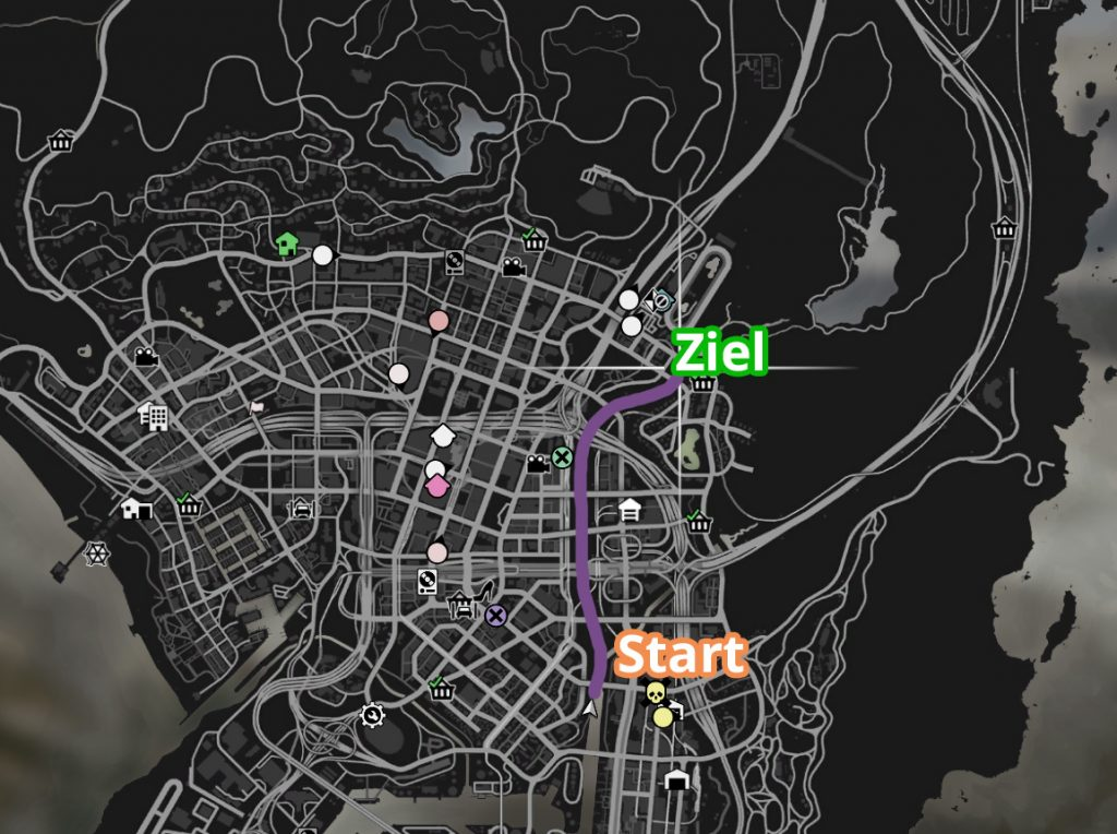 GTA Online Zeitrennen Kanal Strecke